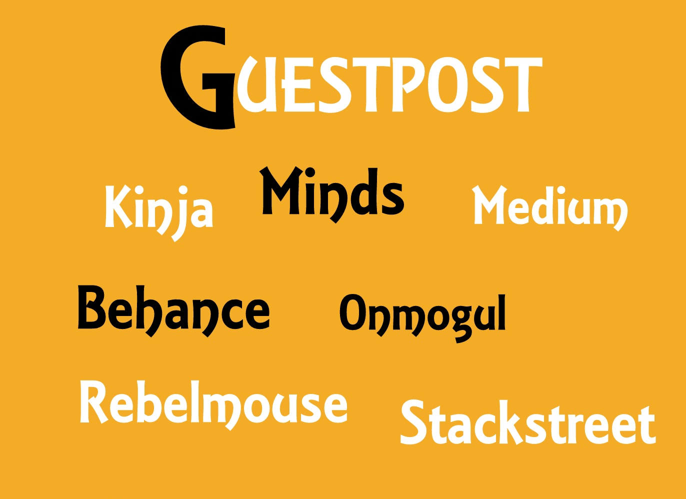 Publish your Guest post on Rebelmouse, Medium,  Behance, Stackstreet,  Minds, Kinja, Onmogul