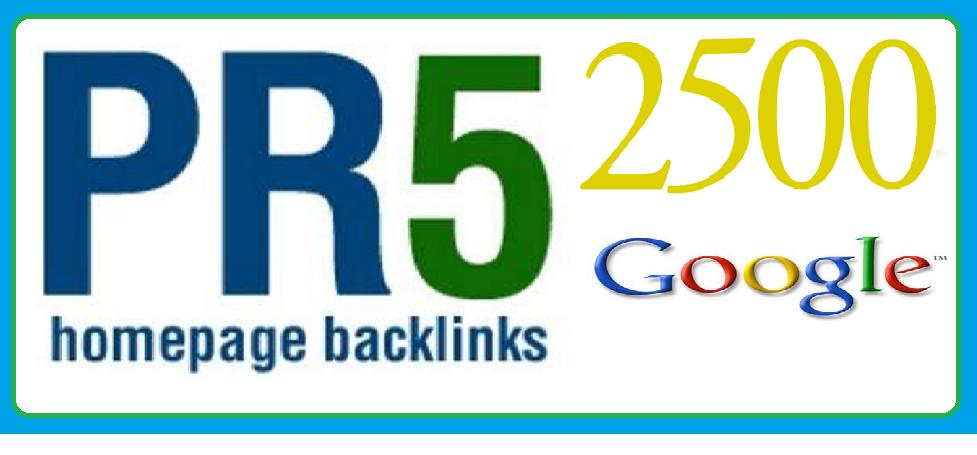 create 2500 pr5 back links for your website on google