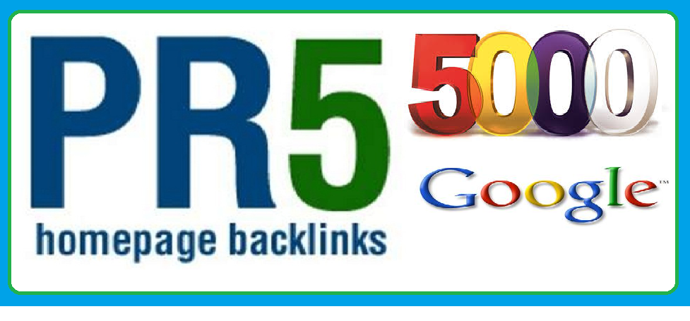 make 5000 pr5 back links for your website on google