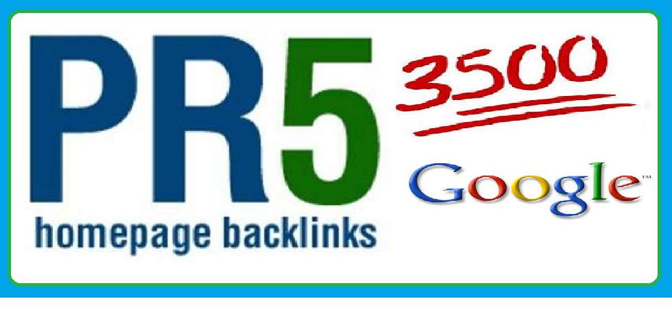 Collect 3500 pr5 back links for your website on google