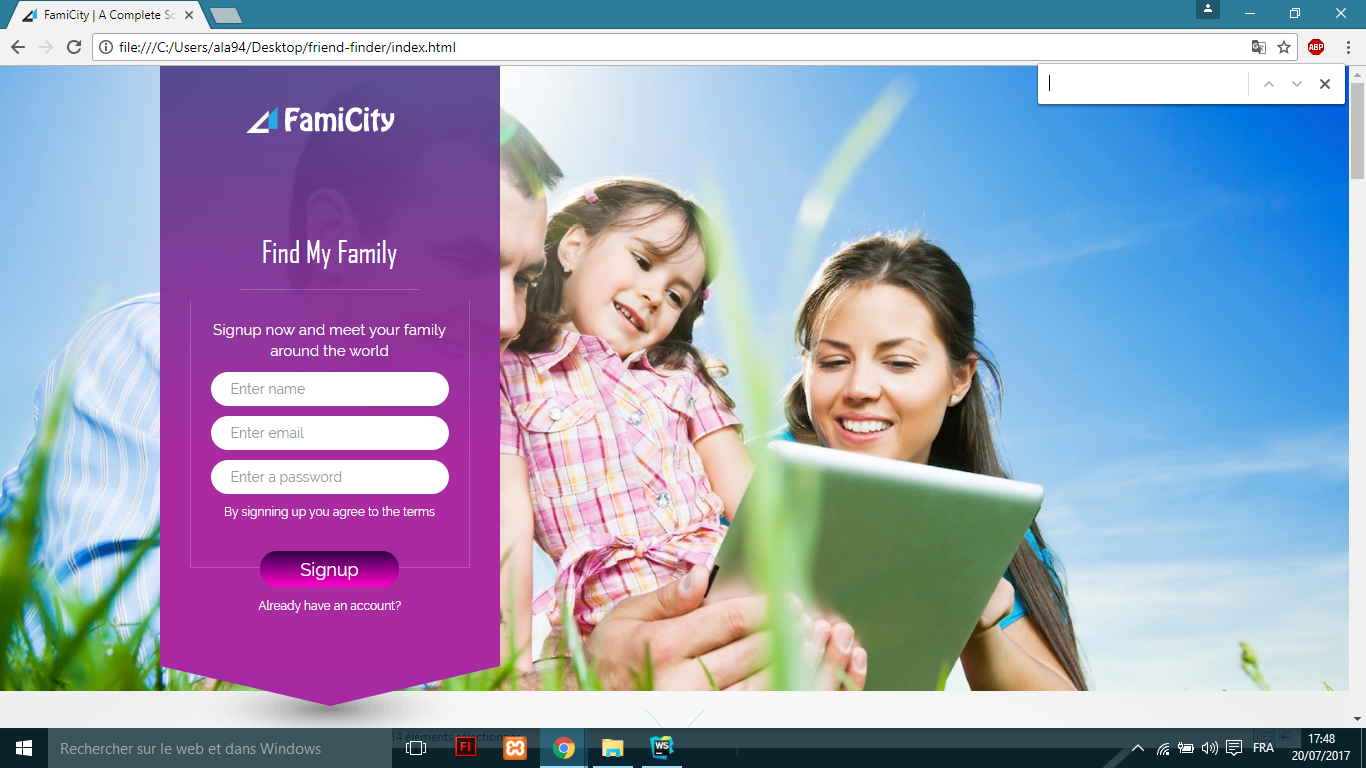 Get A Responsive Famicity Social Media Template All Screen Sizes Css