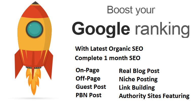 Will Get Your Site On Top Of Google,  Complete One Month SEO 5 Keyword