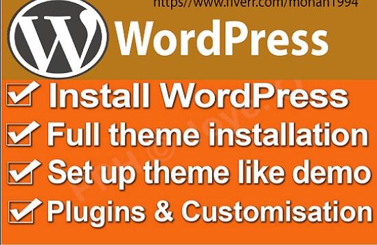 Install WordPress,  Theme Setup And Customization