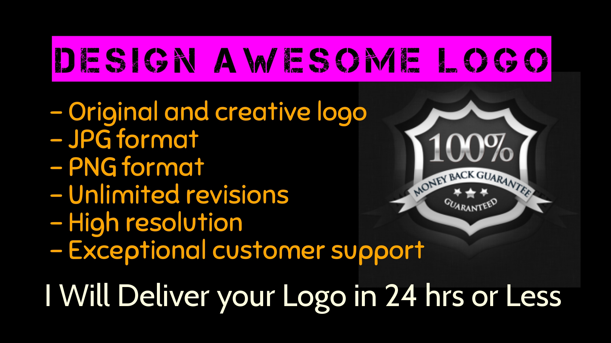 I will design unique logo for you
