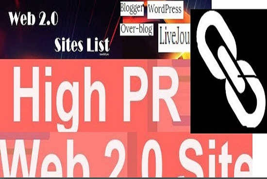 provide you 100 web 2.0 back link high PR sites