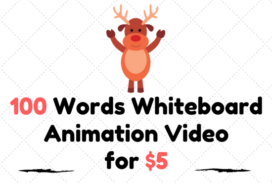 Create Professional Whiteboard Animation With Lower Price