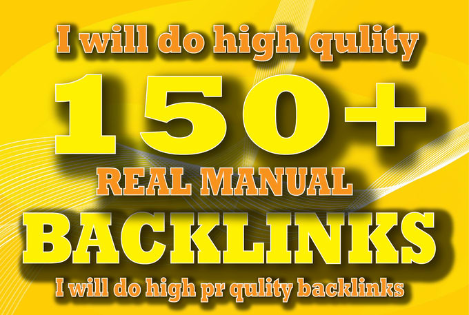 Create 150 Manual SEO Backlinks, For You