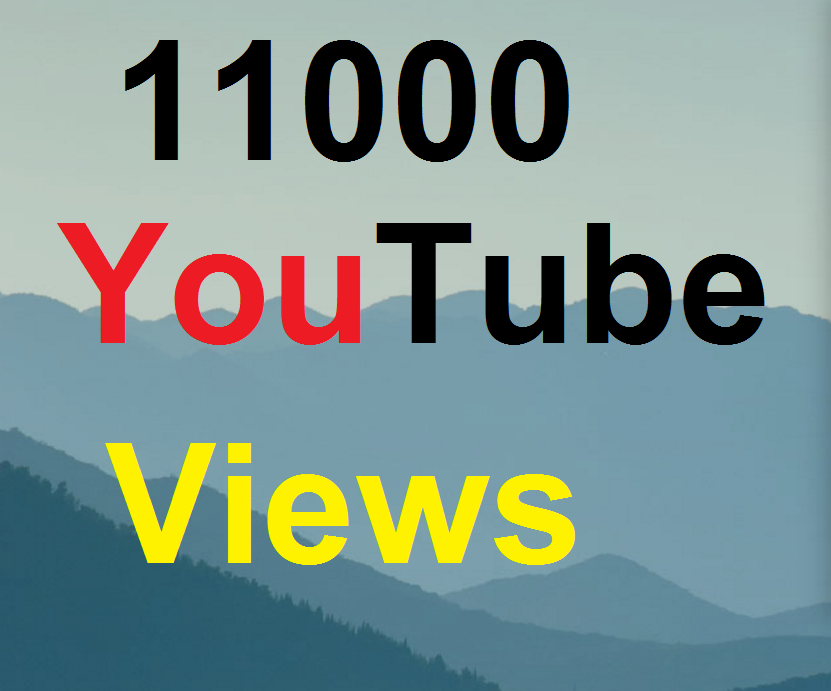 11,000 To 12,000 High Quality You-Tube Vi-ews Fully Safe Instant Start