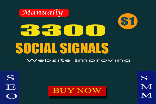 3300 Manually SEO Social Signals To Website Improve google linkedin pinterest