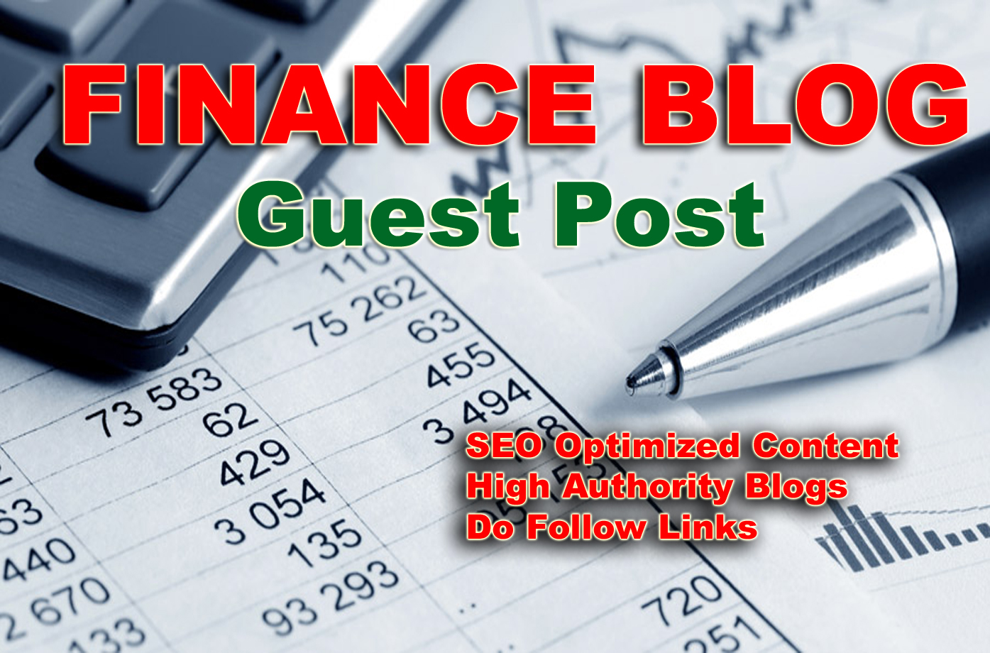 Write and Publish Guest Post for you on my Finance Blog with DA 30+ PA30+ to Boost your SEO