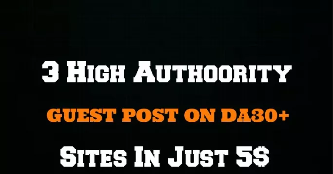 Publish Your Guest Post On 3 High Authority Sites