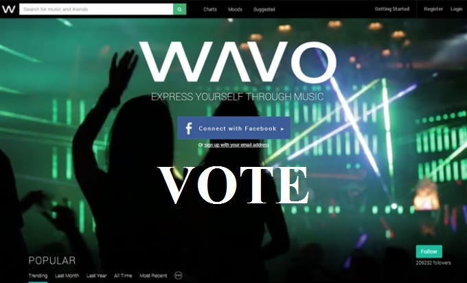 Provide you 40 wavo votes different IPs for your WAVO.ME Remix Contest