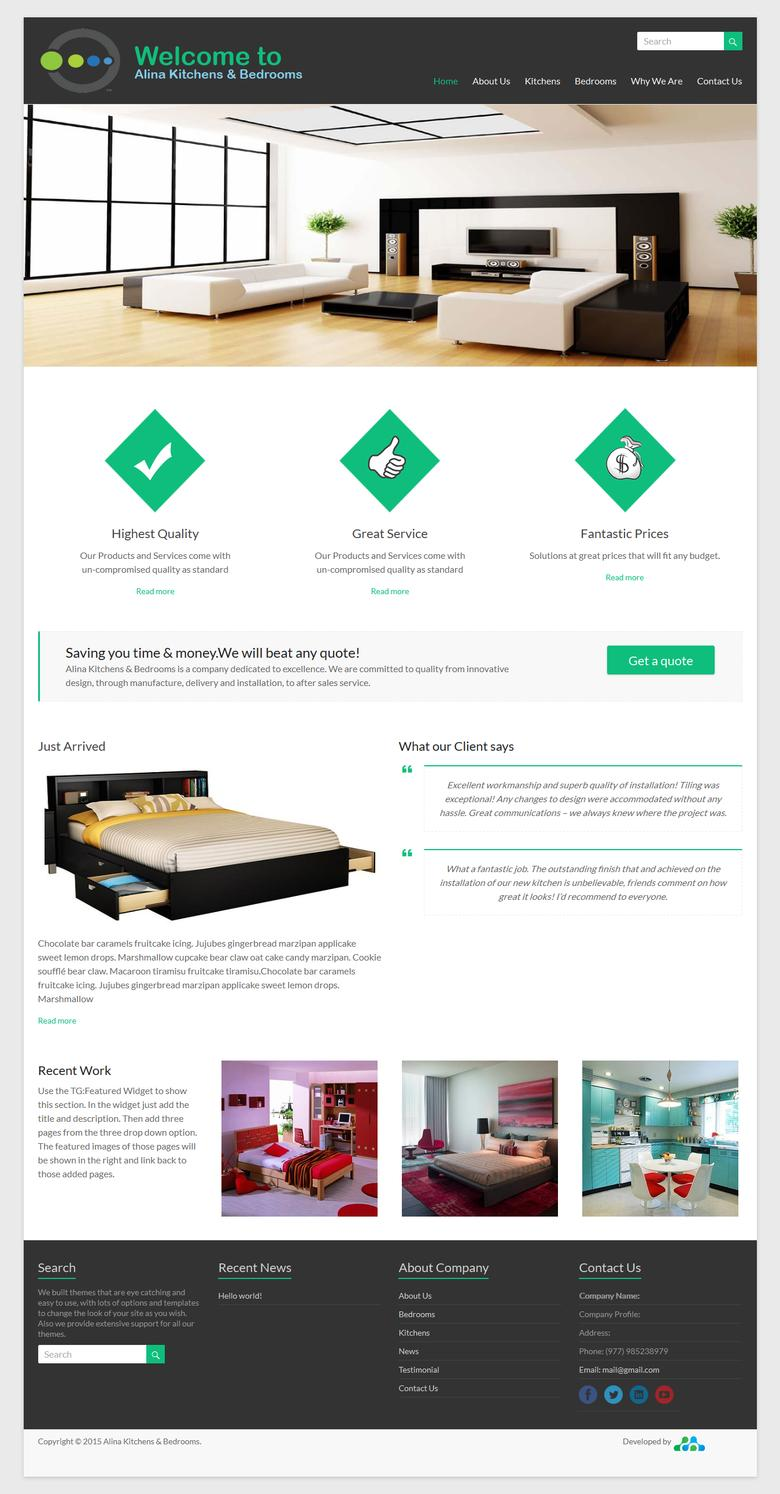 Instant pixel perfect 10 page responsive Mobaile website