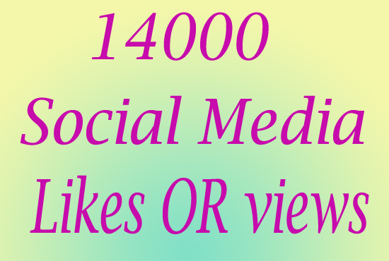 Ultra Fast 14000 Social Media Photo LlKE or Video VlEW
