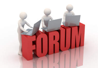 I publish 25 forum profile backlink