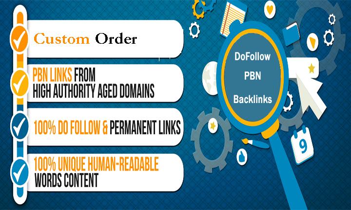 Add DA50 Permanent DoFollow High PBN link Xclusive Offer