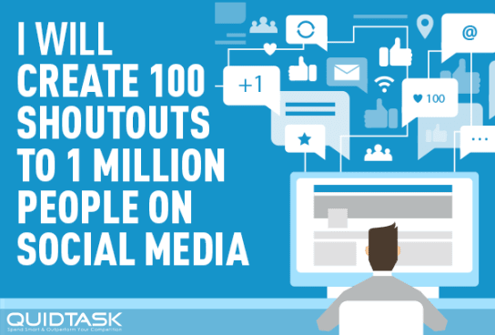 100 Organic Shoutouts to 1,000,000 Real People on Social Media to boost your rankings,  traffic and SERP