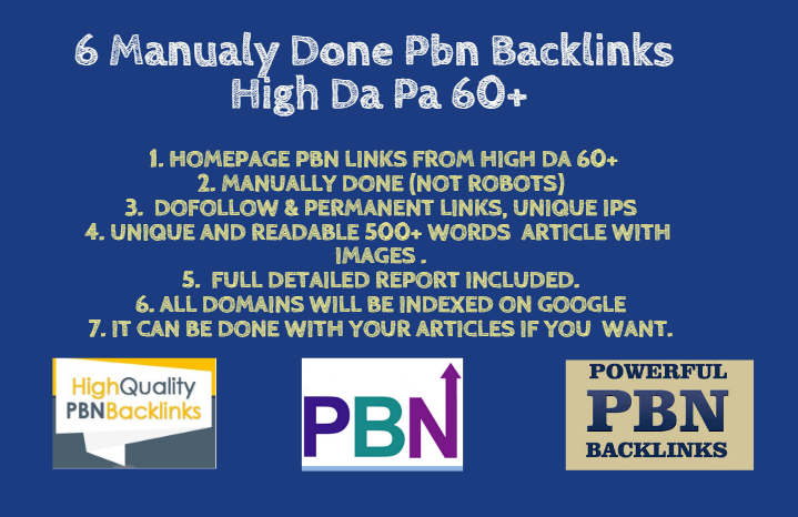 Build 6 High Metrics Pbn Posts With Contextual Backlinks with DA and PA over 60