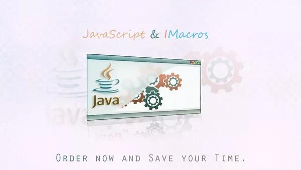 create iMacros JavaScript Macro to automate any task