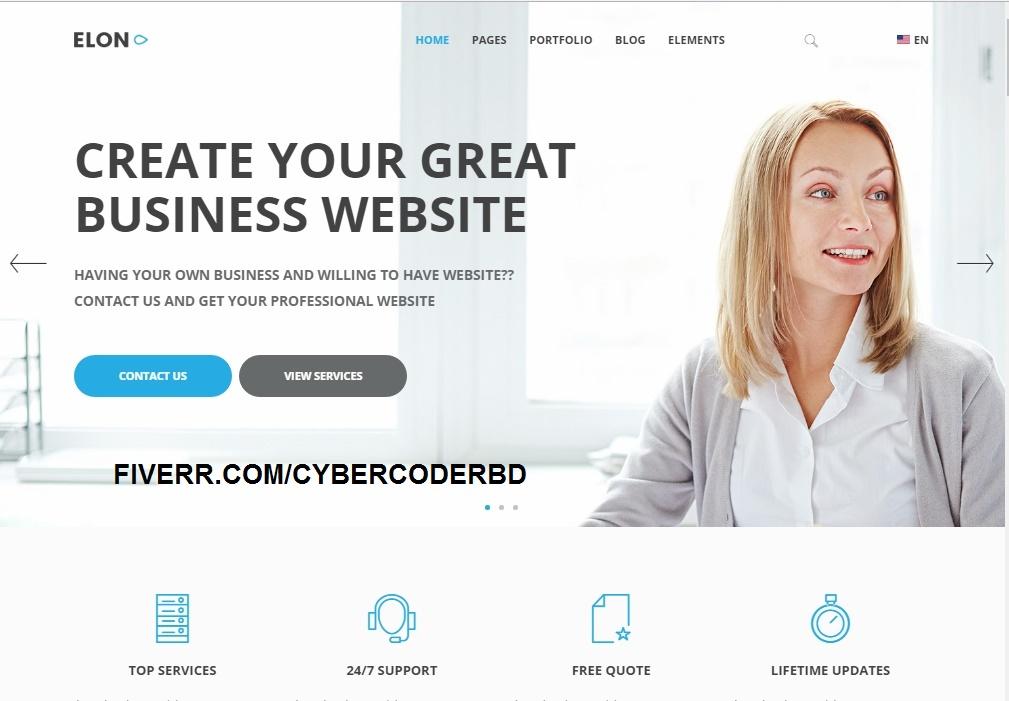 Create Wordpress Website Awesome Design