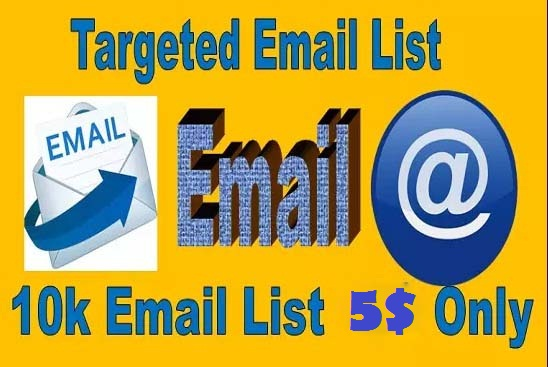 I wiIl do delivery targeted email list