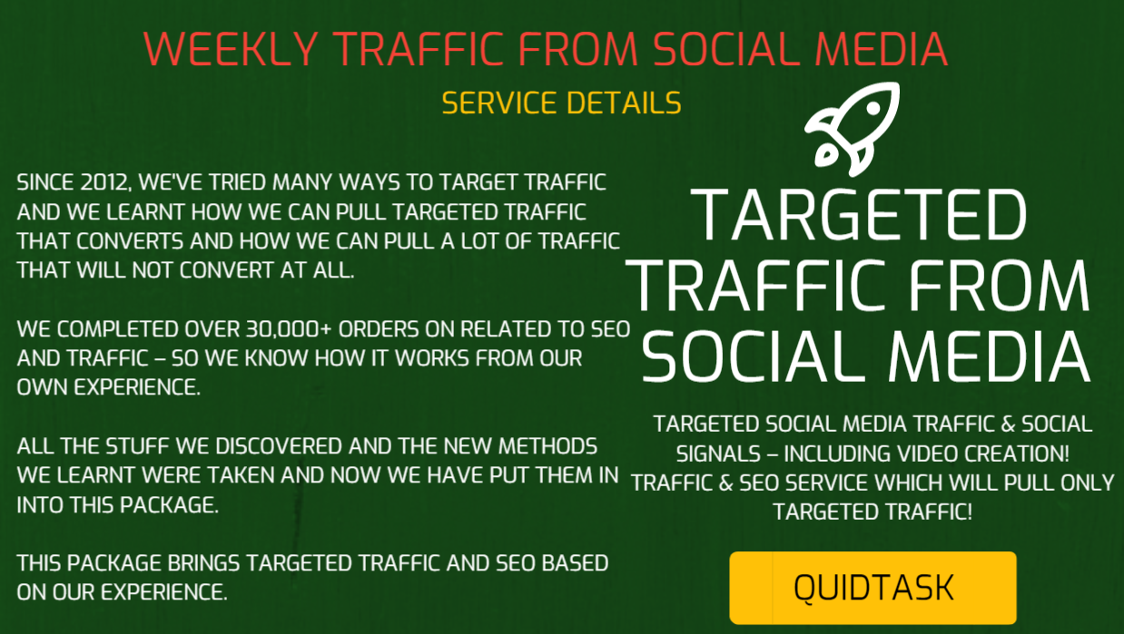 WEEKLY TRAFFIC SERVICE - TARGETED TRAFFIC FROM SOCIAL MEDIA - SOCIAL SIGNALS - BACKLINKS