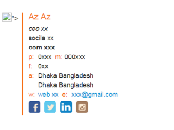 Create Your Attractive Clickable Social Icon Email Signature With