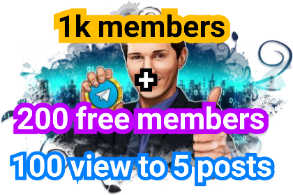 add 1k members+gift to Telegram channel
