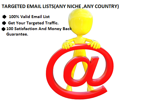 Provide 20,000 Niche Wise Targeted Email Lists