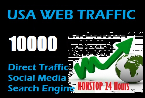 10000 USA Web Traffic to your site or link