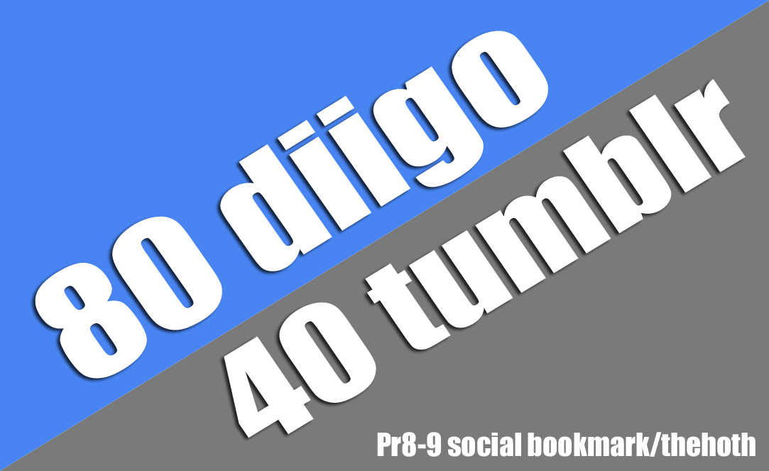 Pr9 80 diigo 40 tumblr Social Bookmark with Provide Backlnik