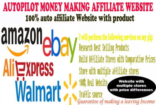 Build Auto Pilot Affiliate Ebay,Amazon,Aliexpress Store