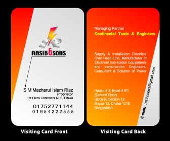 PROVIDED Business card & Letterhead pad par pair