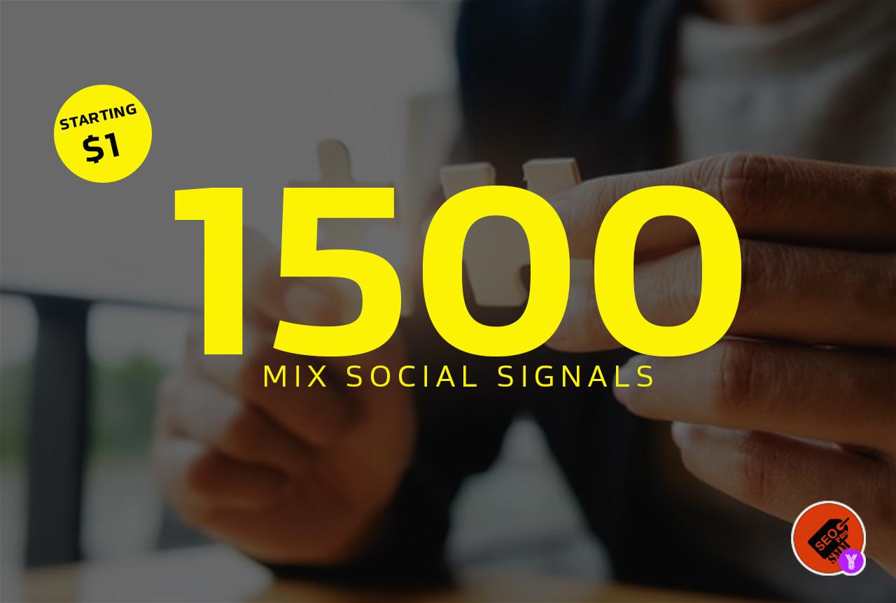 1500+ PR9 SEO Quality Social Signals BOOST