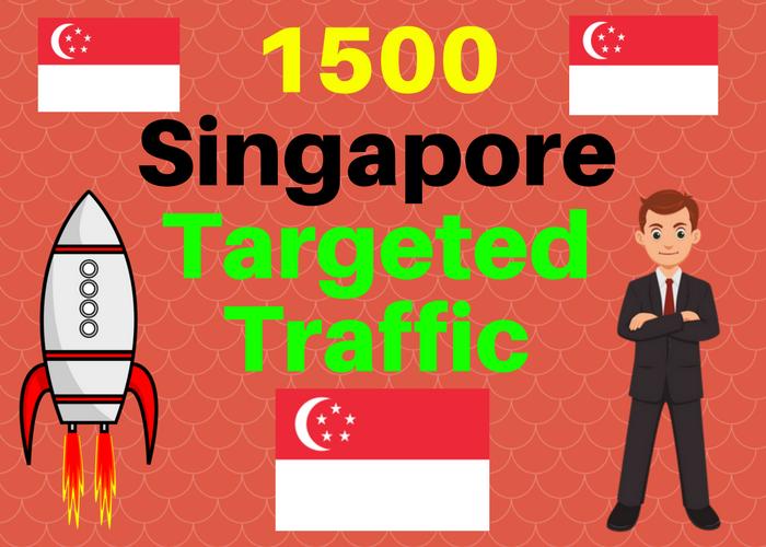 1500 Singapore TARGETED Human traffic to web or blog site. Get Adsense safe and get Good Alexa rank