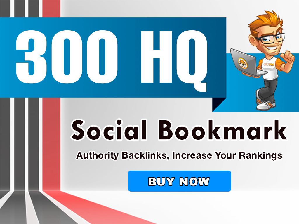 add 300 Social bookmarking backlinks manually