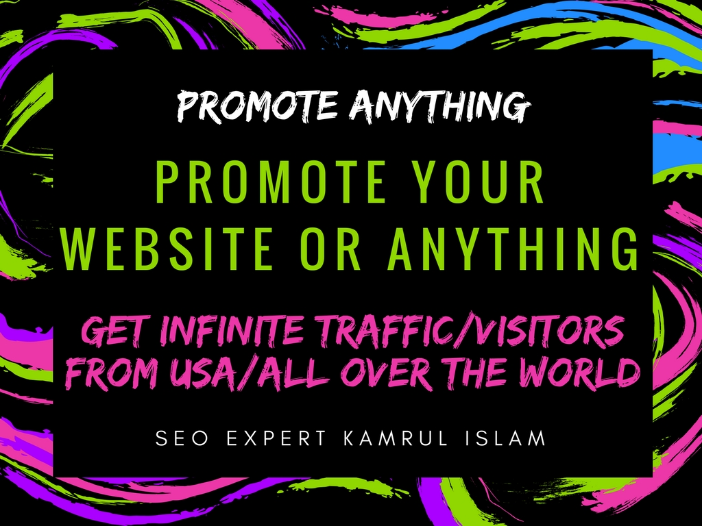 promote your website or anything and get infinite traffic oin your site