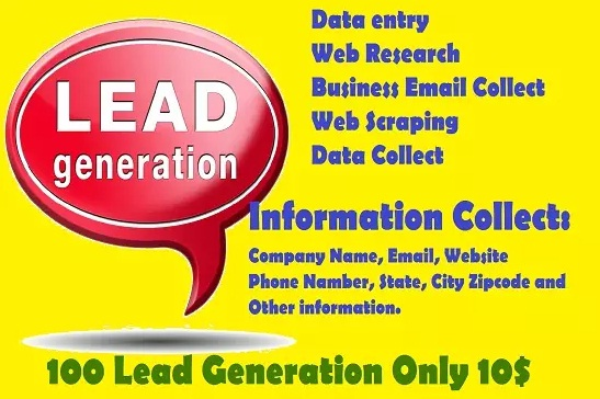 I will do web scraping, web research and lead generation
