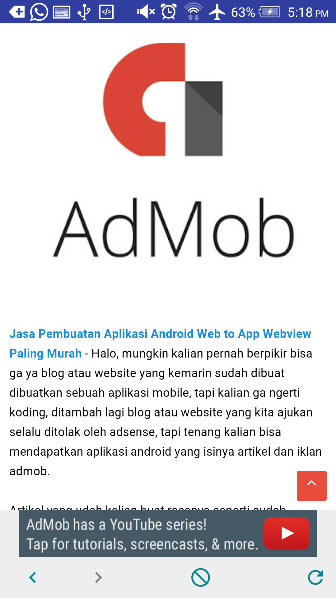 Create Android Application for Your Website Web to App Include Godev