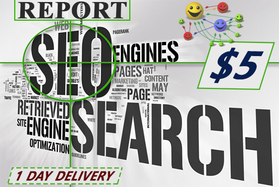 create a full on page seo report for any keyword, domaine and url