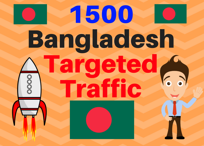 1500 Bangladesh TARGETED Human traffic to web or blog site. Get Adsense safe and get Good Alexa rank
