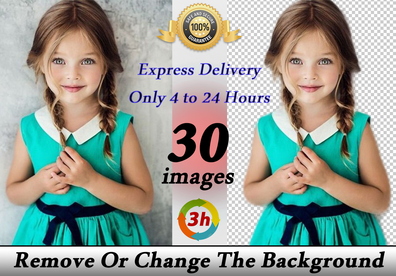 Remove background 30 images only 4 to 24 hours