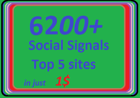 6200+ HQ Social Signals from 4 best Social Media sites PR9 LinkedIn Pinterest social bookmarks
