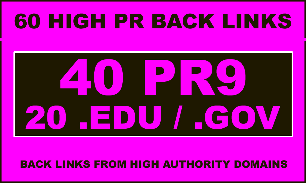 40 PR9-7 + 20. edu &amp. gov High PR Backlinks - EXCE...