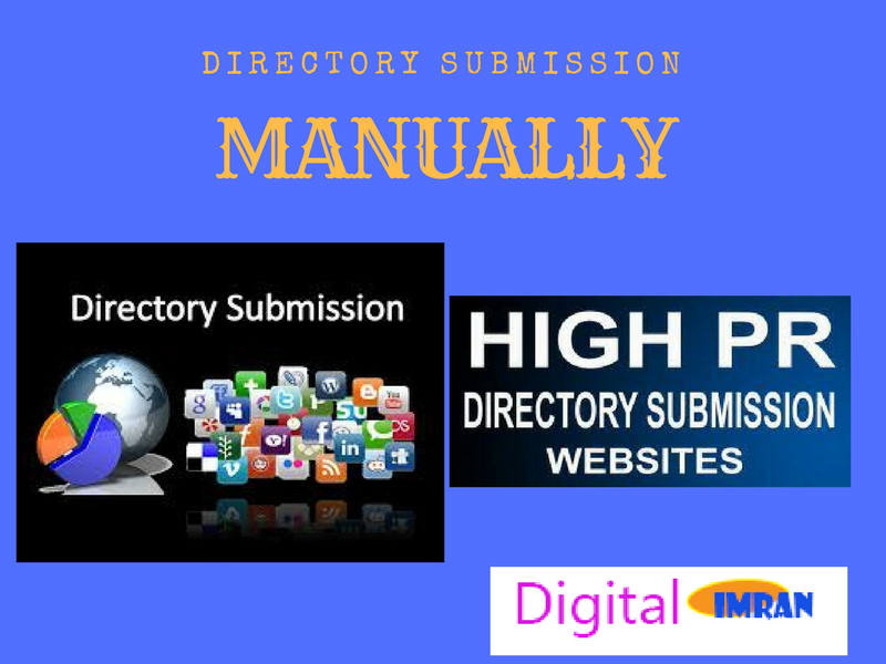Create 50 directory submission, manually