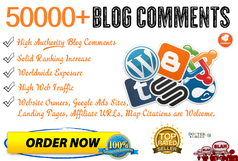 Build 50,000 Quality Blog Comments For High Traffic & SEO