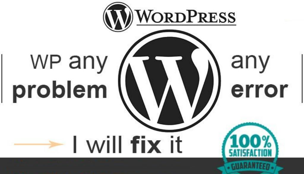 Fix any type of WordPress error