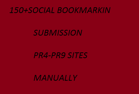 TOP 20 HIGH  PR SOCIAL BOOKMARKING  SUBMISSION MANUALLY PR9,PR8,PR7