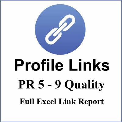 25+ PR5-9 High Authority Profile backlinks,  best links forever