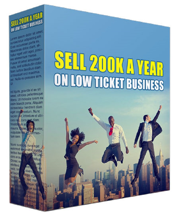 Give you Sell 200K a Year On Low Ticket Business